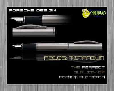 FOUNTAIN PEN PORSCHE DESIGN PURE TITANIUM P 3105 LIMITED EDITION