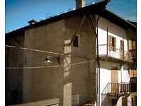 Italian Alps - Investment opportunity, Mountain historical building, Cesana Torinese, Turin, Italy