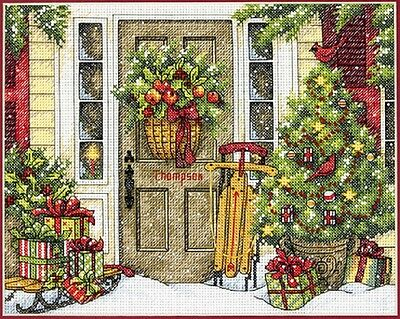 Counted Cross Stitch Kit HOME FOR THE HOLIDAYS Christmas Dimensions New Release!