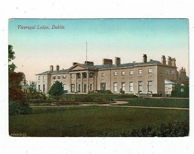 POST CARD EARLY PRINTED OF THE VICEREGAL LODGE DUBLIN