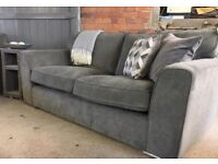 NEW Charcoal Grey 3 Seater, 2 Seater Sofas and Armchair, Can Deliver