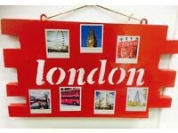 Handmade London city wall art unique upcycled one of a kind decoration England UK Britain