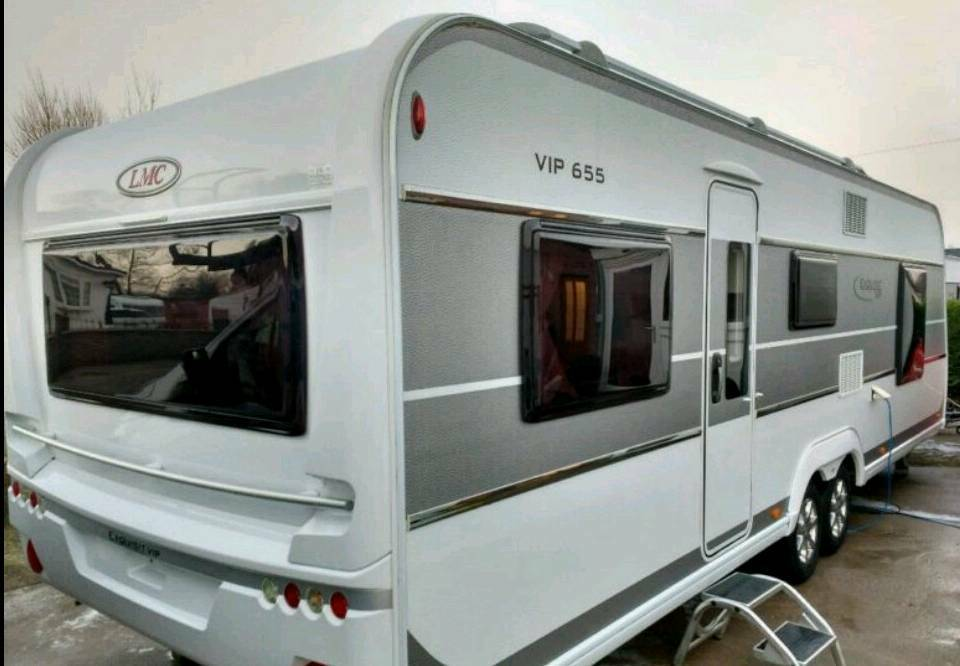 LMC EXQUISITE 655VIP CARAVAN AND AWNING | in Cambuslang, Glasgow | Gumtree