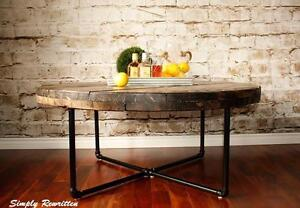 Cable Reel Spool Coffee Table by Simply Rewritten
