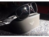 EMPORIO ARMANI Aviator SUNGLASSES EA 2012 3001/6G Black/Mirorred Lenses