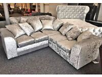 LIVERPOOL CRUSH VELVET CORNER OR 3+2 SEATS AVAILABLE IN STOCK