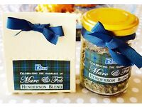 Bespoke wedding favours - Tea (high quality and personalised)
