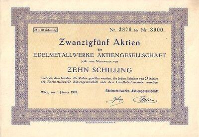Edelmetallwerke AG Wien 1928