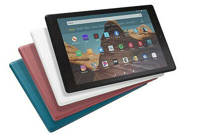 "2019 Amazon Kindle Fire HD 10"" Tablet[LatestGen]Alexa/32GB Black/White/Blue/Plum"