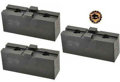 Bison Lathe Chuck Soft Top Jaws For Scroll Chuck 5in 3-jaw 3 Piece Set 7-884-305