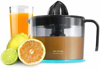 Exprimidor zumo de naranja 1 L, 40W, doble giro,filtro regulador pulpa ajustable