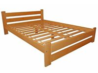 KING SIZE SOLIND PINE BED BNIB CAN DELVER