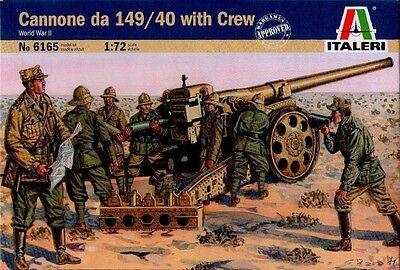 Italeri 6165 Cañón de 149/40 con Crew Warriors Of The World War II 1:72