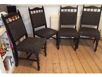 4x Victorian/ Edwardian Dining Chairs