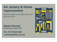 Professional Joiner/Fitter- Kitchens, Bedrooms, Bathrooms and all general joinery work.