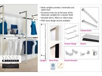 Chrome Shop Fitting Rails and Accessories Clothing Hanger