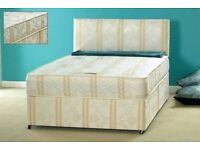 MARCH SALE === Double / Small Double Divan Bed Bases With 10 inch thick Full Orthopaedic Mattress