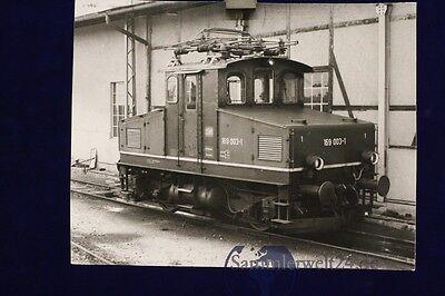 großes org. s/w Foto Lok E- Lok 169 003 am 11.7.1977 in Murnau