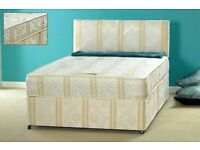 BRAND NEW DOUBLE DIVAN BED WITH COMFY DEEP QUILT MATTRESS!!!!! (GREAT OFFER)