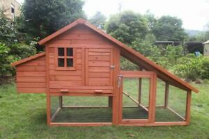 Large Size Chicken Coop Rabbit Hutch Ferret Cage Hen Chook House