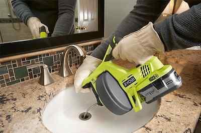 Ryobi Drain Auger Plumbing Snake Sink Clog Pipe Cleaner Cordless 18v Electric