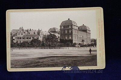 altes Foto CDV Darmstadt  um 1894 Schloss vom Paradeplatz Albuminfoto