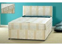SAME DAY DELIVERY-- BLACK AND CREAM COLOR -- NEW Double Divan Base + SUPER Orthopaedic Mattress --