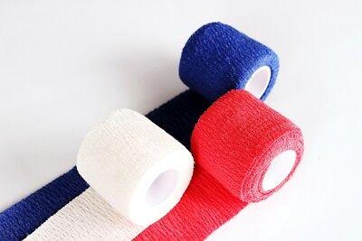 0,34€/m 12 Rollen Haftbandage Selbsthaftende Bandage elastisch 5cm x 4,5m