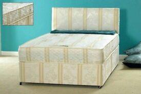 ❋❋【BONNEL SPRING MATTRESS 】❋❋NEW DOUBLE DIVAN BED + DEEP QUILT MATTRESS & HEADBOARD /DRAWERS OPTION