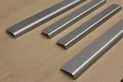 Für  MERCEDES ML (W164)  Einstiegsleisten mit Abkantung Schutzleisten Aluminium