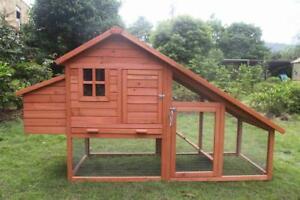 Large Size Chicken Coop Rabbit Hutch Ferret Cage Hen Chook House