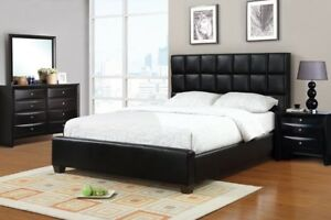 ISO bedframe, headboard, two night stands