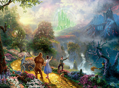 Thomas Kinkade The Wizard of Oz Ceaco Movie Classic 1000 Piece Jigsaw Puzzle on Rummage