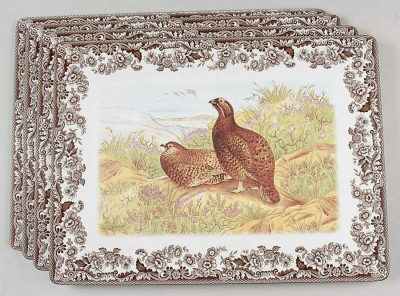 Spode Woodland Set Of 4 Corkboard Placemats (Pimpernel) 8786923