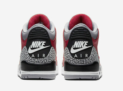 "Nike Air Jordan 3 Retro SE Casual Shoes ""Air"" Red Cement CK5692-600 Men's NEW"