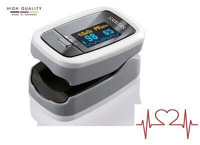Sanitas Pulsoximeter SPO 25 Sauerstoffmessgerät Pulsmesser Fingersensor Oximeter