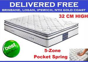 QUEEN Bed Mattress Orthopedic Pocket Spring Pillow Top DELIVERED New Farm Brisbane North East Preview