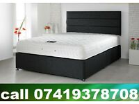 King Size Bed, double , single base with Mattress