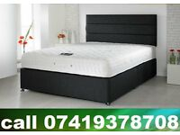 B New King Size Bed, double , single base with Mattress