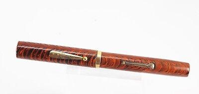 Vintage WATERMAN 58 RIPPLE XL Fountain Pen #8 Flex NIB Restored HUGE PEN MINTY