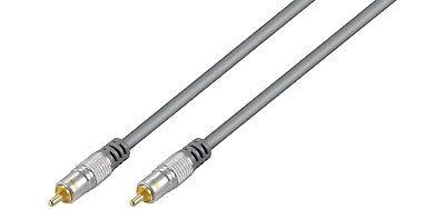 1m Mono Cinch Audio Kabel home theater 75 Ohm Cinch Stecker-Stecker Audiokabel ()
