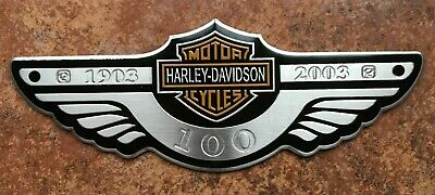 Harley Davidson Wing Metal 3D Sticker Decal Motorbike 120mm x 45mm
