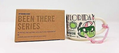 NEW Starbucks Been There Collection FLORIDA Mug Christmas Ornament Demi 2oz Cup