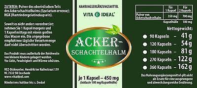 VITA IDEAL Ackerschachtelhalm Kapseln (Equisetum arvense) je 450mg