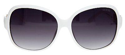 NWT Guess sunglasses GUF 237 T50 White / Gradient Smoke 58 mm GU0234F (Guess Wayfarer Sunglasses)