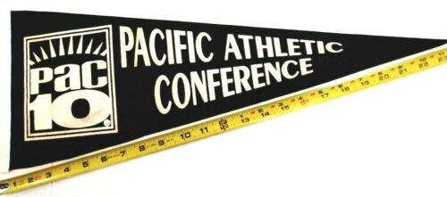 "VINTAGE PAC 10 PACIFIC ATHLETIC CONFERENCE FELT PENNANT 24"" {E31}"