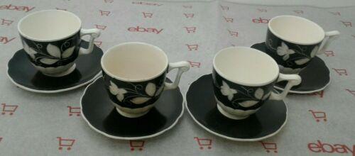4 Rare Vintage Erphila 349 Germany Demitasse Cup Saucer Set Porcelain Floral