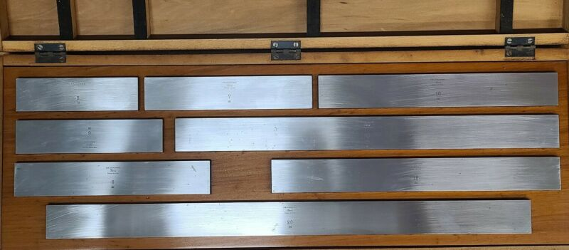 "Dearborn Ford Rectangular Steel Large/Long Gage Block Set - NN41 5.0"" To 20"""