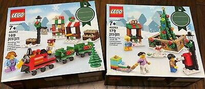 LEGO Christmas Village Holiday lot New sealed 40262, 40263 Train Christmas Tree