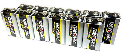 (Pack of 12) Rayovac 9V12 UltraPRO Alkaline 9v Batteries EXP 2022